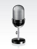 вектор микрофона ретро Стоковые Изображения