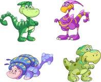 вектор милого динозавра установленный Стоковые Изображения