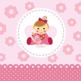 Вектор младенца маленькой девочки Стоковые Изображения