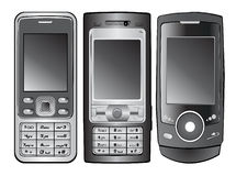 вектор мобильного телефона Стоковые Изображения RF
