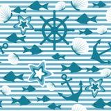 вектор морской картины иллюстрации безшовный Стоковое Фото