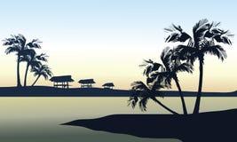вектор моря ландшафта иллюстрации тропический Стоковое фото RF