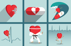 Вектор мотивировки здравоохранения сердца Стоковое Изображение