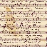 вектор музыкального счета безшовный Стоковая Фотография