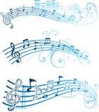 вектор музыкальных примечаний Стоковые Фото