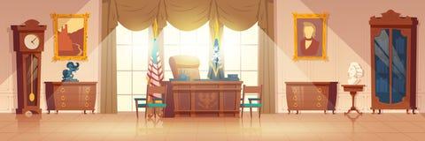 Вектор мультфильма овального шкафа президентов внутренний стоковые фотографии rf