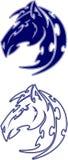 вектор мустанга талисмана логоса мустанга Стоковые Изображения