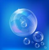 вектор мыла пузырей Стоковое Изображение RF