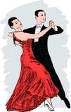 вектор мюзикл иллюстрации танцы пар Стоковое Изображение