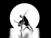 вектор мюзикл иллюстрации танцы пар Стоковое Изображение RF