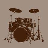 Вектор набора барабанчика Стоковое Изображение