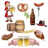 Вектор набора пива иллюстрация штока
