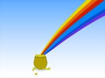 вектор наггетов иллюстрации золота Стоковое Изображение RF