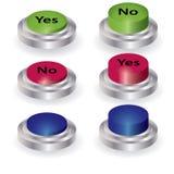 вектор нажима кнопки установленный Стоковое Изображение