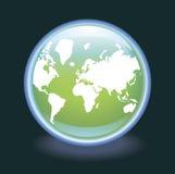 вектор неона глобуса Стоковое Фото