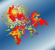вектор нот человека цвета предпосылки Стоковые Фотографии RF