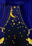 вектор ночи занавесов предпосылки звёздный бесплатная иллюстрация