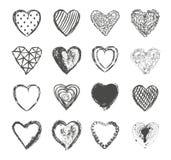 Вектор дня валентинок установленный сердцами Стоковые Фото