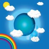 вектор облаков Стоковые Изображения RF
