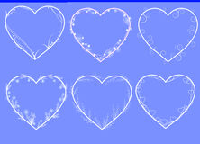 Вектор обрамляет сформированное сердце Стоковые Фотографии RF
