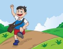 Обучая мальчик Стоковая Фотография RF