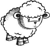 вектор овец овечки схематичный Стоковое Фото