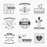 Вектор логотипа изделий из древесины Стоковое Изображение RF
