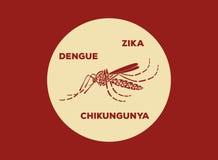 Вектор логотипа москитов Aegypti Aedes Стоковые Фотографии RF