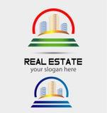 Вектор логотипа небоскреба Стоковое фото RF