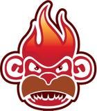 Вектор логотипа стороны обезьяны Стоковое Изображение