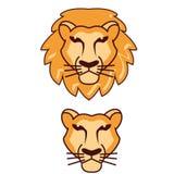 Вектор логотипа льва головной стоковое фото rf