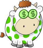 Вектор дойной коровы Стоковое Изображение RF