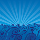вектор океана Стоковые Фото