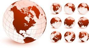 вектор оригинала иллюстрации глобусов Стоковые Изображения