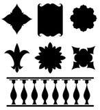 вектор оригинала элементов конструкции установленный Стоковые Изображения