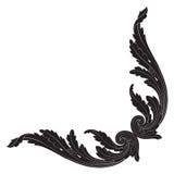 Вектор орнамента в стиле барокко для филигранного Стоковые Фото