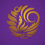 Вектор орнамента золота круга Стоковое Фото