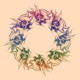 вектор орнамента круглый абстрактная предпосылка Стоковые Изображения