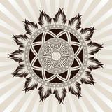 Вектор орнамента Солнця Стоковые Фото