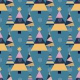 Вектор орнамента торжества звезды снега в декабре сезона дизайна ели праздника рождественской елки зимы снежинки Стоковые Фото