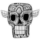 Вектор орнамента черепа бесплатная иллюстрация