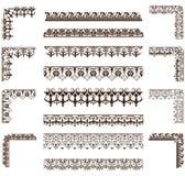 Вектор орнаментирует рамки, углы, границы Стоковые Фото