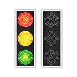 Вектор дорожного движения светлый Реалистическая панель СИД Последовательность освещает красную, желтый, зеленый цвет Идут, ждут, бесплатная иллюстрация