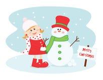 вектор открытки иллюстрации рождества eps10 Стоковые Изображения RF