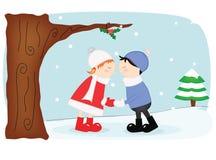 вектор открытки иллюстрации рождества eps10 Стоковое Фото