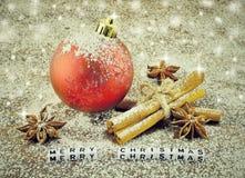 вектор открытки иллюстрации рождества eps10 Стоковые Фото