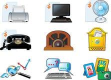 вектор офиса иконы установленный Стоковые Фото
