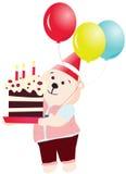 вектор партии дня рождения медведя счастливый Стоковое фото RF