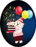 вектор партии дня рождения счастливый Стоковые Фото