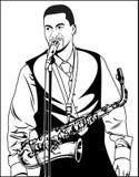 Вектор - певица поет с микрофоном Иллюстрация вектора